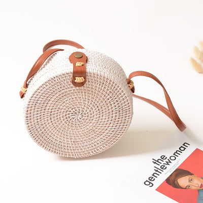 RATTAN BAG - WHITE Edition