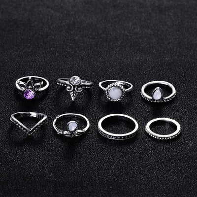 8pcs/Set Lucky  Boho Rings