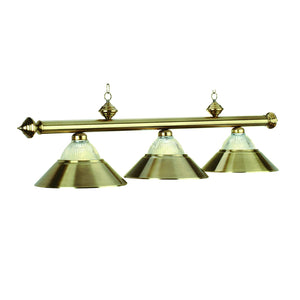 "3 LT-54"" BILLIARD LIGHT-ANTIQUE BRASS - titos-table-game"