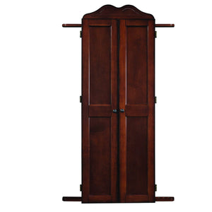 DARTBOARD CABINET CUE HOLDER - CHESTNUT - titos-table-game