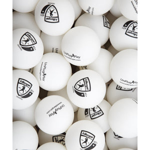 Training 1 Star Balls 40+ (White) - 100 pack - titos-table-game