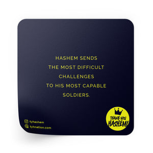 Quote Sticker / 5 Pack [HASHEM SENDS THE MOST DIFFICULT....]