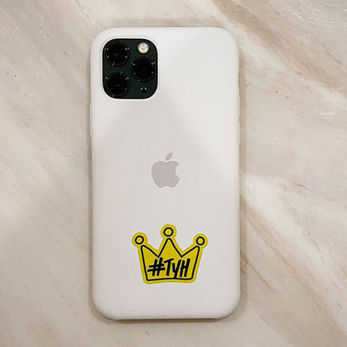 Crown Decal Yellow - 2 stickers small