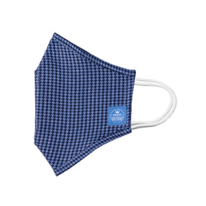 Mask Blue Houndstooth / Youth Adult / Premium Quality
