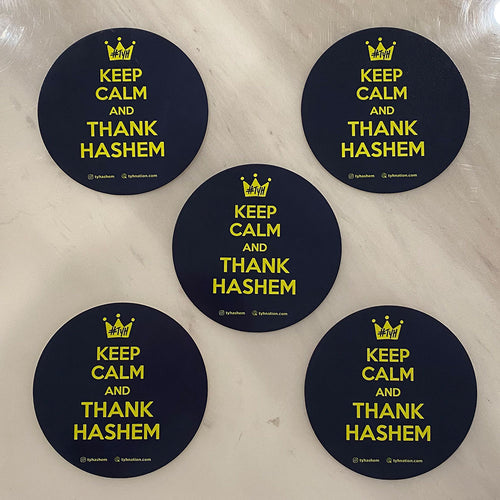 Quote Stickers / Keep Calm & Thank Hashem / 3.5in