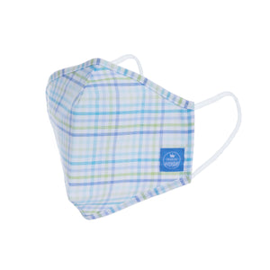 Mask Blue Green Check / Youth & Adult / Premium Quality