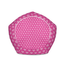 Load image into Gallery viewer, Bean Bag Chair w/ filling - Pink & White Logo