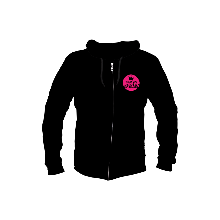 Sweatshirt Youth / Black with Pink Logo