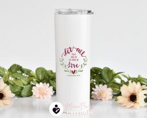 Perfect Love,Gift Idea,Custom Tumbler,Personalized Tumbler Cup,Insulated Tumbler,Custom Tumbler With Straw,Personalized 20 Oz Steel Tumbler - MamaBuzz Creations