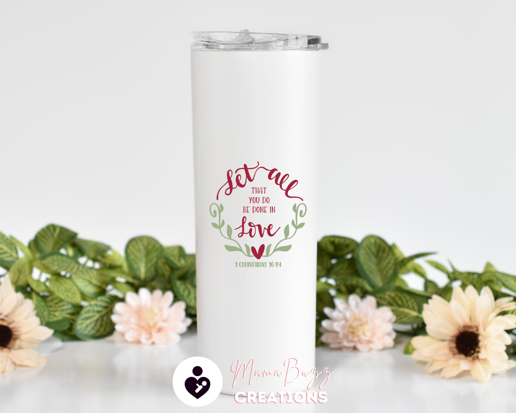 Faith,Hope,Love Custom Tumbler,Personalized Tumbler Cup,Insulated Tumbler,Custom Tumbler With Straw,Personalized 20 Oz Steel Tumbler - MamaBuzz Creations