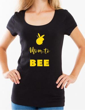 """Mom to Bee"" Ladies Tee - MamaBuzz Creations"