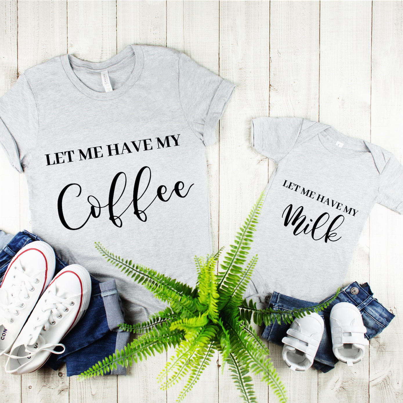 """Let Me Have My Coffee"" Ladies Tee - MamaBuzz Creations"