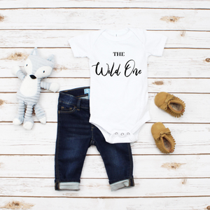 """The Wild One"" Baby Onesie - MamaBuzz Creations"