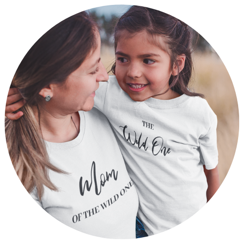 """Mom of the Wild One"" Ladies Tee - MamaBuzz Creations"