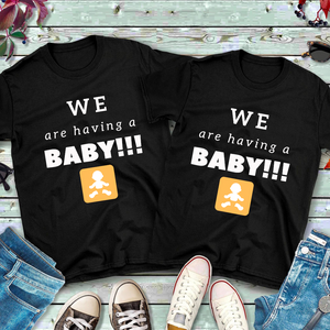 """We Are Having a Baby"" Ladies Tee - MamaBuzz Creations"