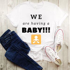 """We Are Having A Baby"" Men's Tee - MamaBuzz Creations"