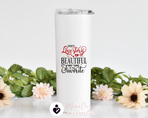 Custom Tumbler,Couples Gift,Personalized Tumbler Cup,Insulated Tumbler,Tumbler With Straw,Gifts for Couples,Valentines Day Gift for Him - MamaBuzz Creations