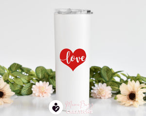 Valentines Gift,Custom Tumbler,Couples Gift,Personalized Tumbler Cup,Insulated Tumbler,Tumbler With Straw,Gifts for Couples,Valentines Day - MamaBuzz Creations