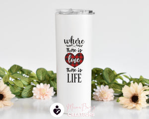 Personalized Tumbler Cup,Insulated Tumbler,Custom Tumbler With Straw,Faith,Hope,Love Custom Tumbler,Personalized 20 Oz Steel Tumbler - MamaBuzz Creations
