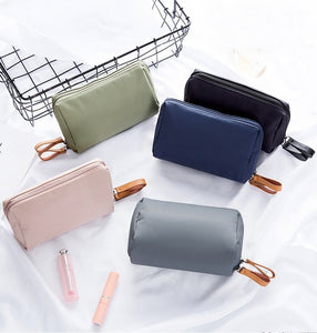 Korean Style Solid Cosmetic Bag Women Bow Tie Makeup Bag Waterproof Travel Neceser Wash Bag Case Toiletry Storage Neceser H120