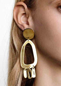 Modern Weaving Odd Oval Earrings