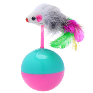 Funny Mouse Tumbler With Balls Cat Toys Wine Whiskers