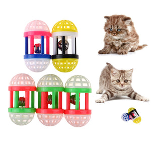 Rattle Scratch Natural Foam Ball Cat Toys Wine Whiskers