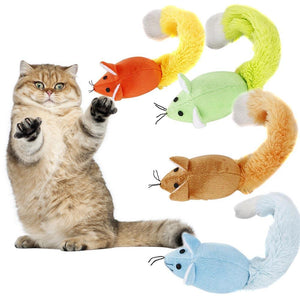 Faux Fur Long Tail Mouse Cat Toys Wine Whiskers