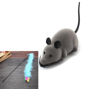 Remote Control Wireless Mouse Cat Toy Wine Whiskers