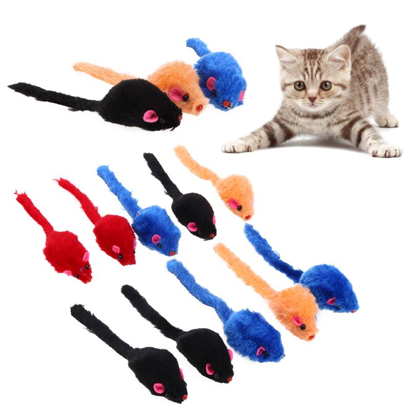 Mini Colorful False Mouse Cat Toys Wine Whiskers
