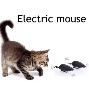 Battery Powered Mouse Shape Cat Toy Wine Whiskers