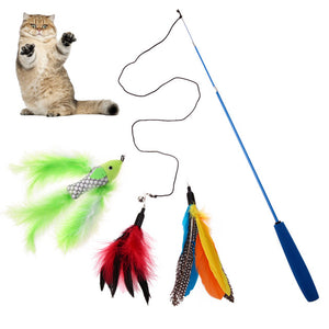 Replaceable Feather Head Wand Toys Wine Whiskers