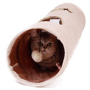 Rabbit Teaser Funny Hide Tunnel Toys Wine Whiskers