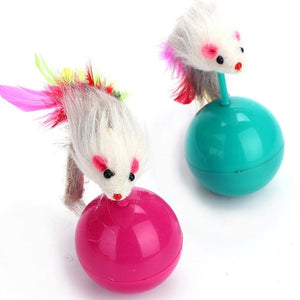5.5cm Tumbler Ball False Mouse Toys For Cats Wine Whiskers