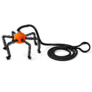 Elastic Plush False Spider Bat Toy For Cat Wine Whiskers