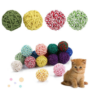 Paper Line Rolling Balls Cat Toys Wine Whiskers