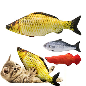 Cute Fish Shape Chewing Cat Toy Wine Whiskers