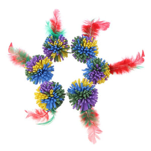 EVA Feather Flower Balls Toys For Cat Wine Whiskers