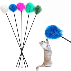Teaser Rods Rabbit Hair Ball Cat Toy Wine Whiskers