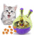 Interactive IQ Treat Ball Cat Toy Wine Whiskers