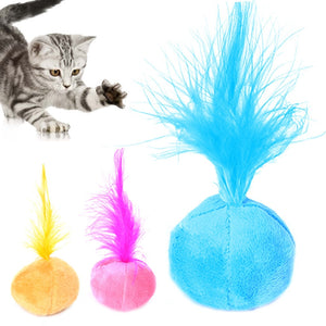 Velvet Sound Catnip Feather Cat Toy Wine Whiskers
