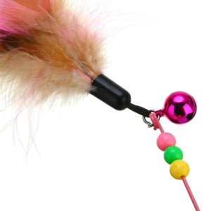 Newest Funny Feather Teaser Bell Cat Toy Wine Whiskers