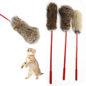 Non-toxic Rabbit Hair Cat Toys Wine Whiskers