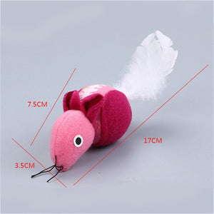 Feather Tail Plush Mouse Cat Toys Wine Whiskers