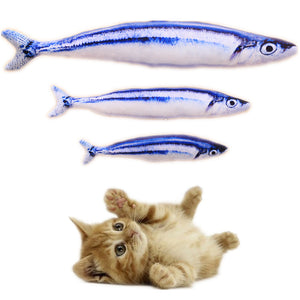 Plush Stuffed Fish Cat Toys Wine Whiskers