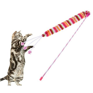 Wand Rod Bell Sound Interactive Stick Cat Toy Wine Whiskers