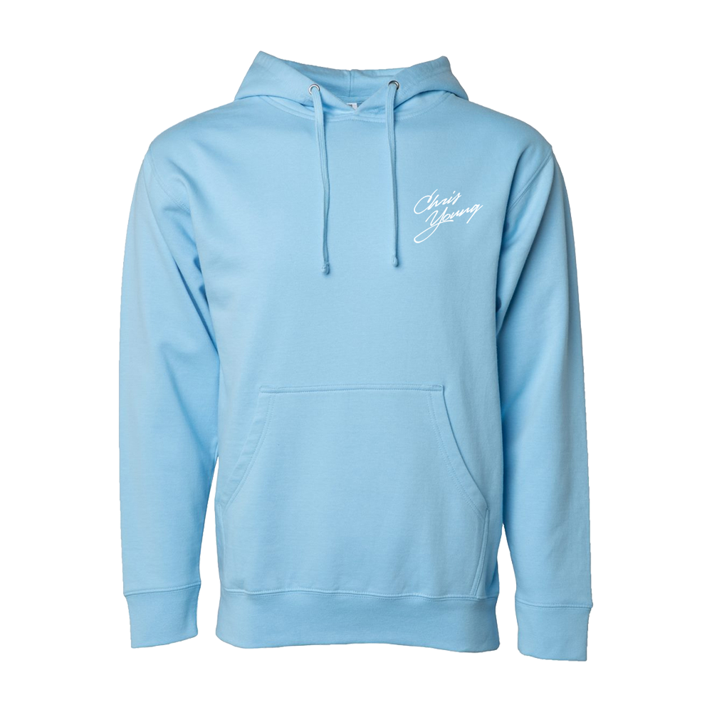 Chris Young Blue Aqua Hoodie