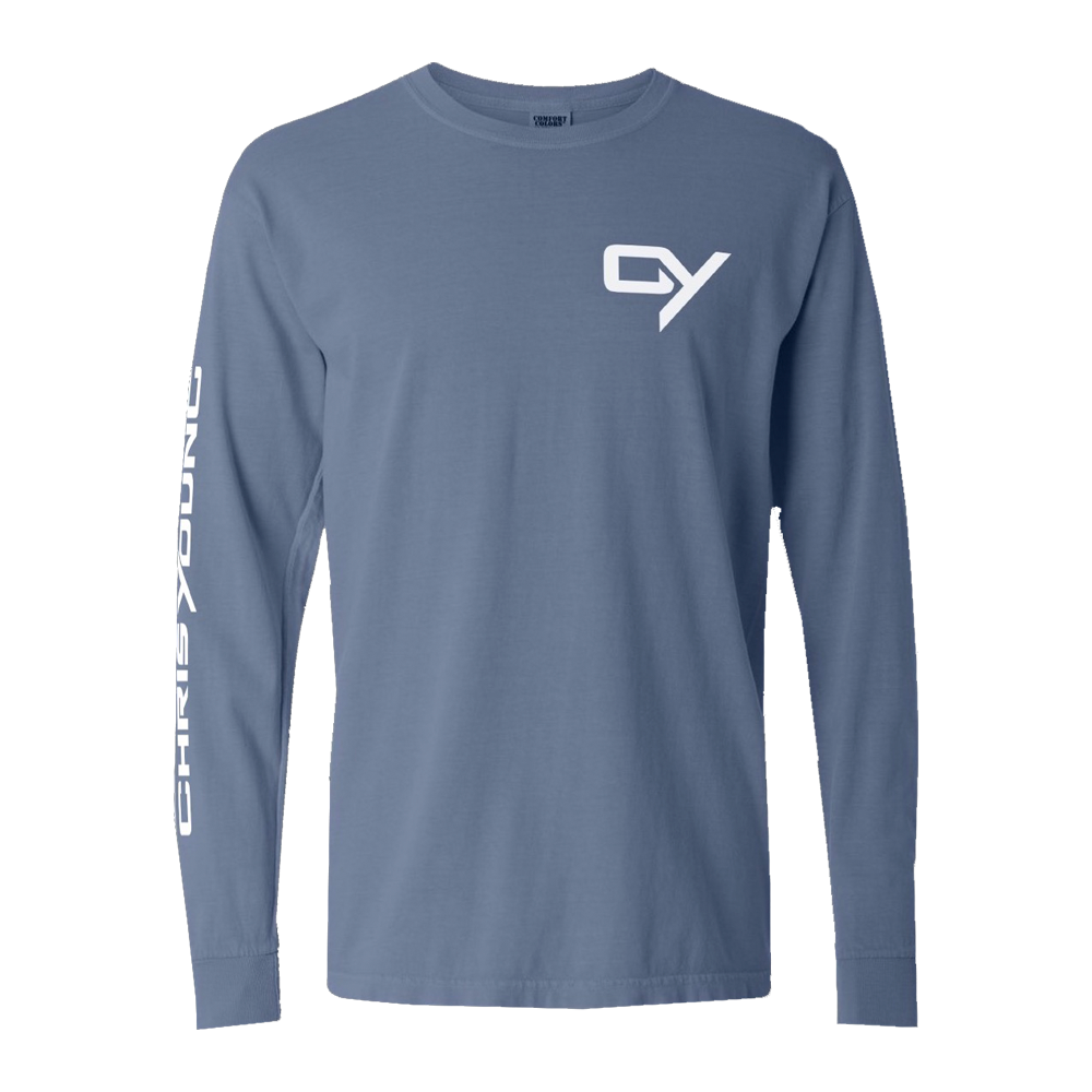 Ice Blue Long Sleeve Tee (No Dates)
