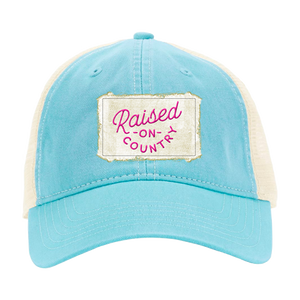 Raised on Country Patch Hat - Blue