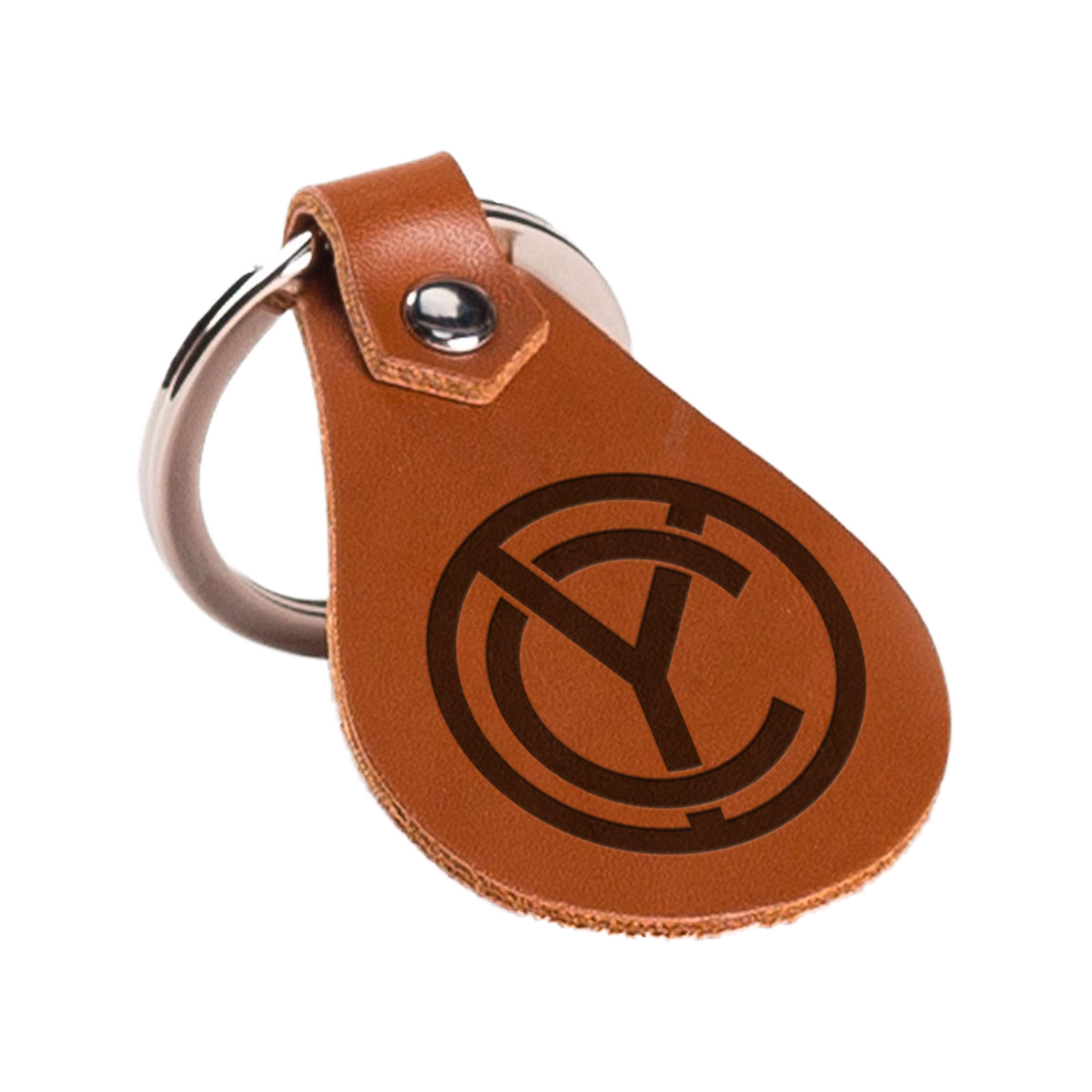 CY Leather Keychain
